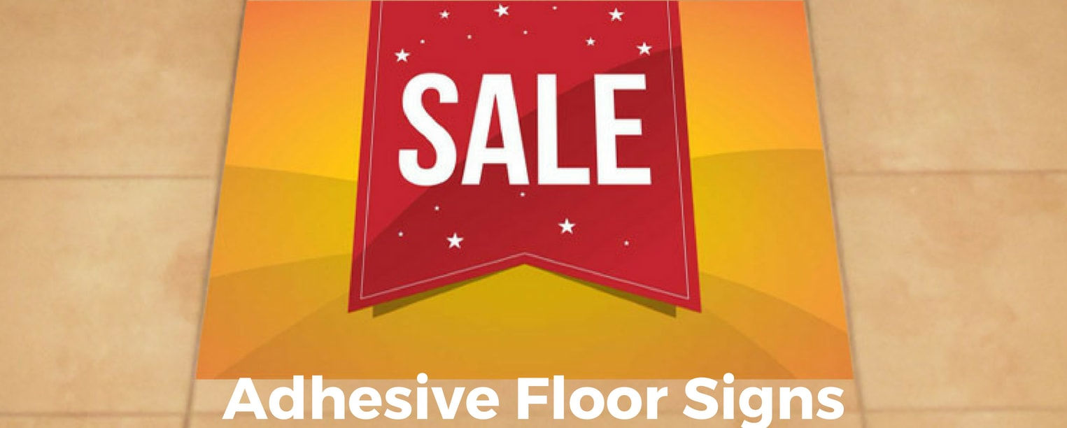 Adhesive Floor Signs