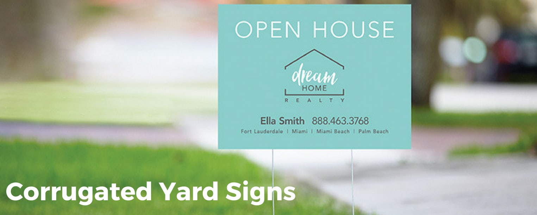 Corrugated Yard Signs