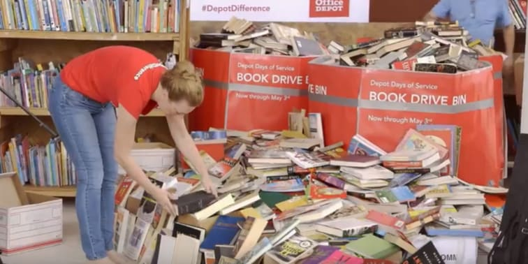Over 10,000 Books Donated by Office Depot