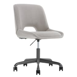 Elle Decor Laissy Low-Back Task Chair, Linen