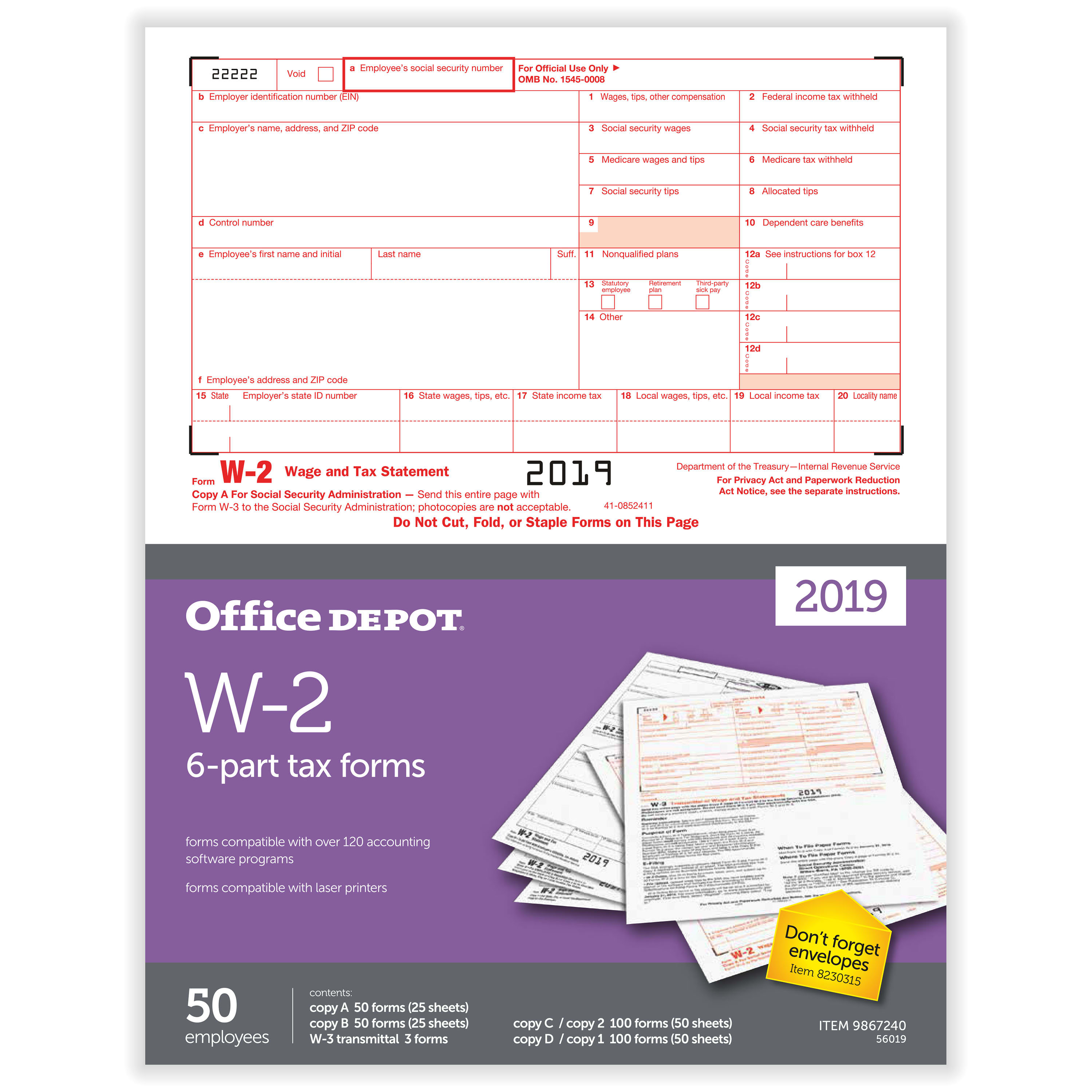 2018 W-2 Forms