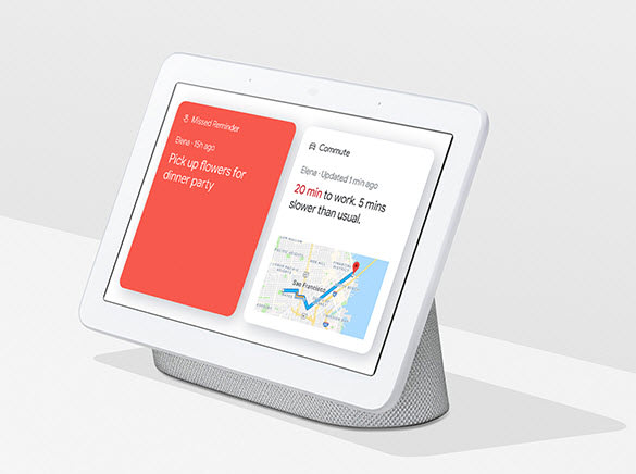 google home hub help at a glance image