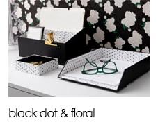 Shop black dot & floral