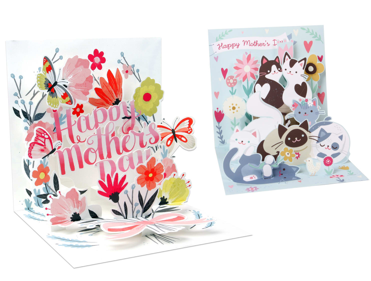 Mother's day pop-up greeting cards