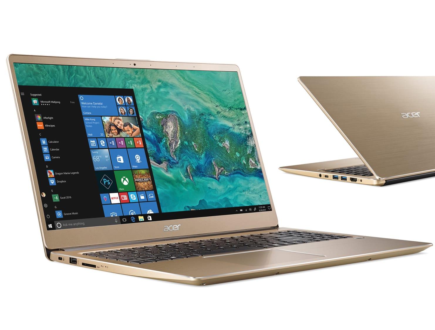 Rose gold acer laptop