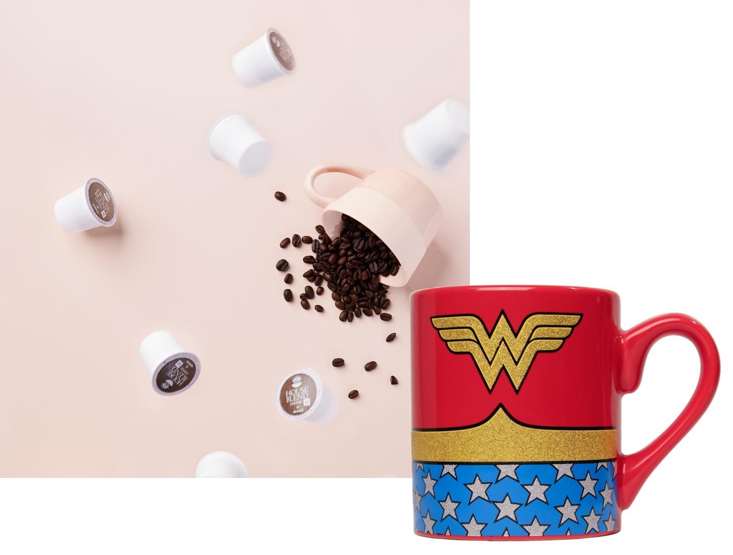 Wonder Woman mug and Executive Suite Coffee