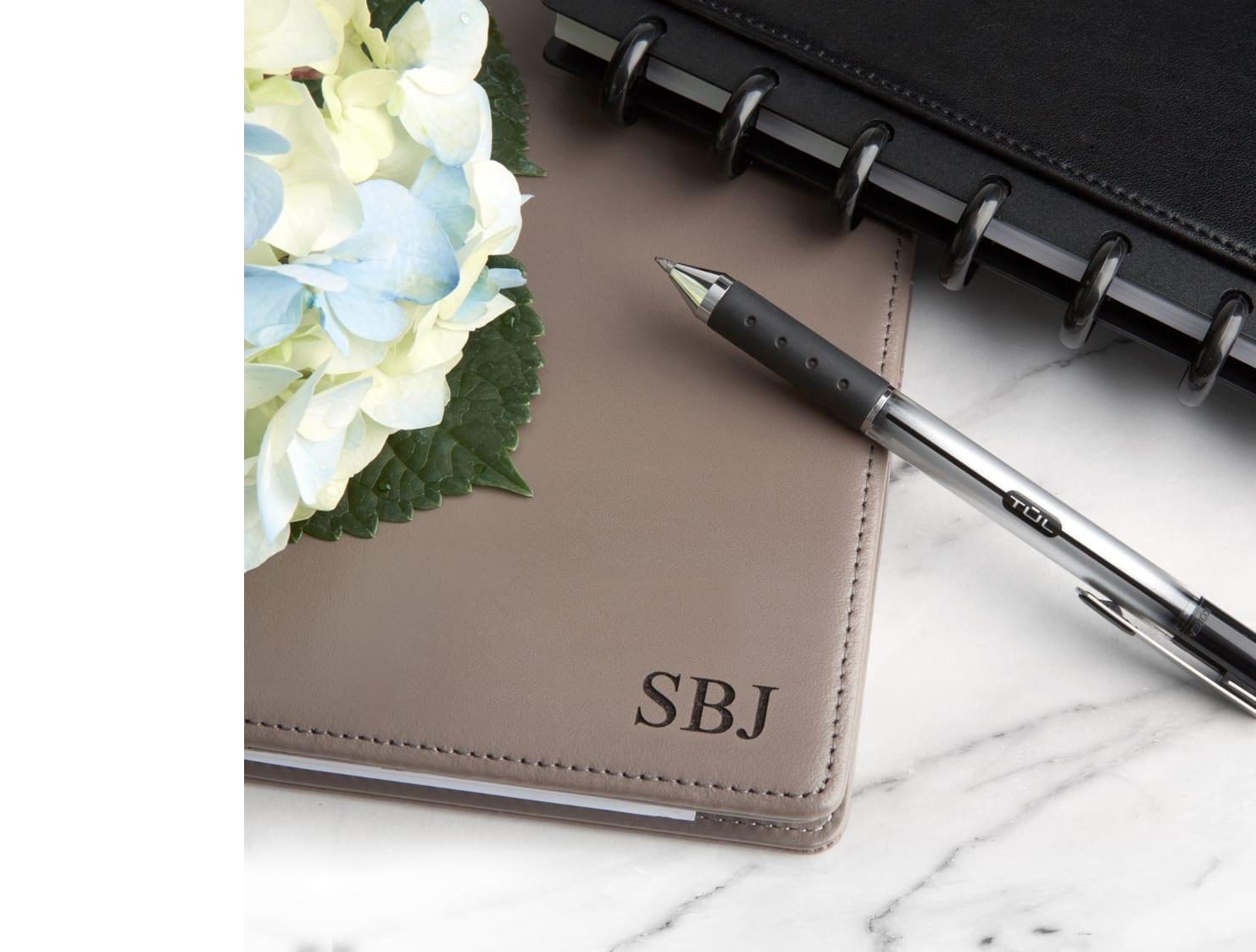 Gray customizable notebook