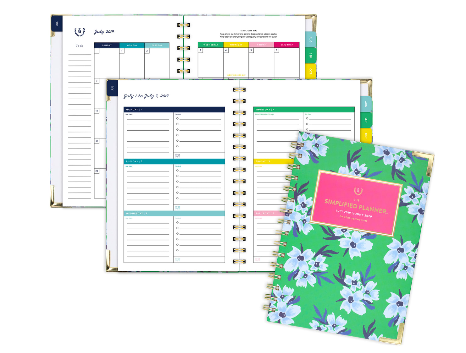 Floral At-A-Glance monthly planner