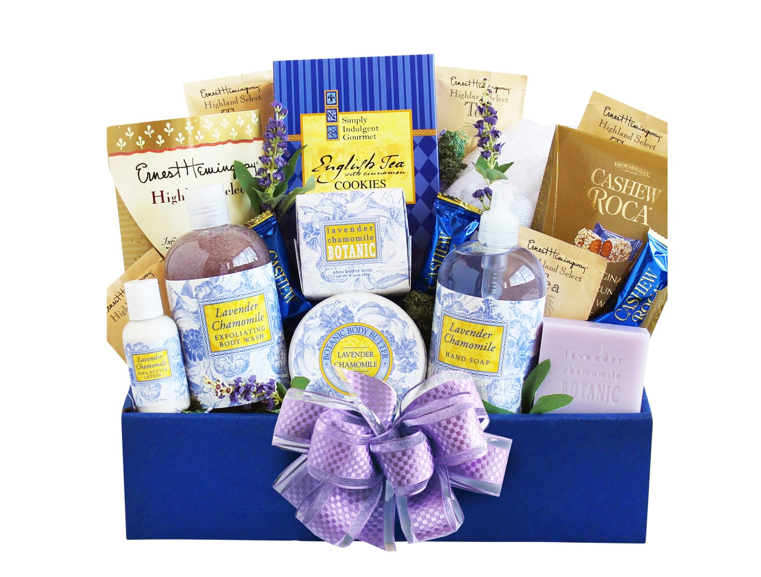 Blue Mother's Day gift basket