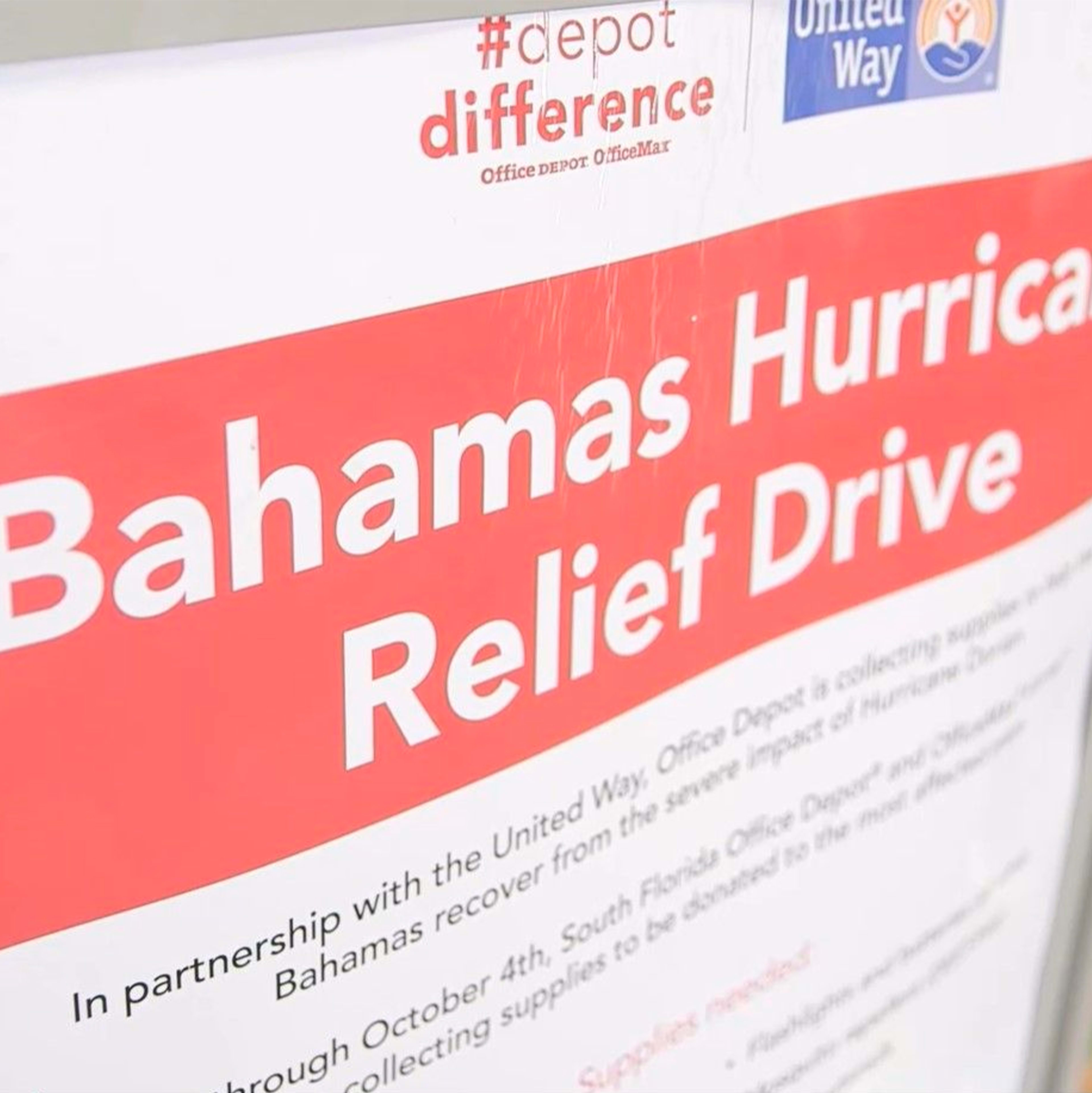 Office Depot support victims of Hurricane Dorian in Neighboring Bahamas