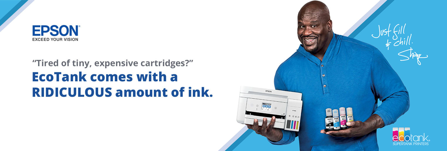 Epson Exceed Your Vision - Tired of tiny, expensive cartridges EcoTank comes with a Ridiculous omount of ink.