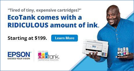 EcoTank Comes With a RIDICULOUS amount of ink. Starting at $199