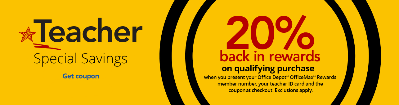 Teachers get 20% BACK IN REWARDS on qualifying purchase