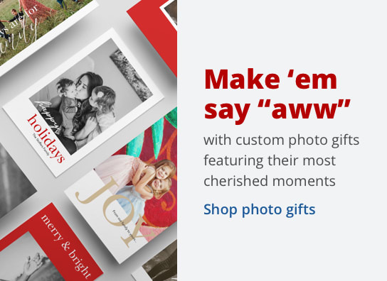 "Make 'em say ""aww"" with custom photo gifts featuring their most cherished moments"