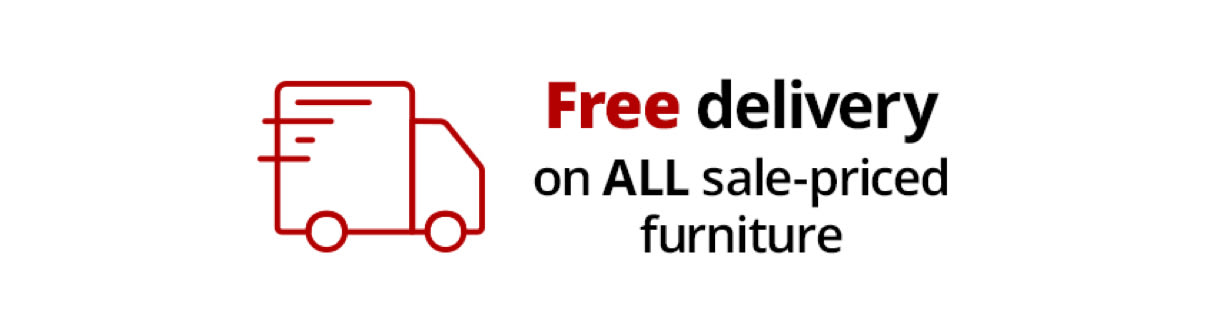 free delivery on all sale-priced furniture