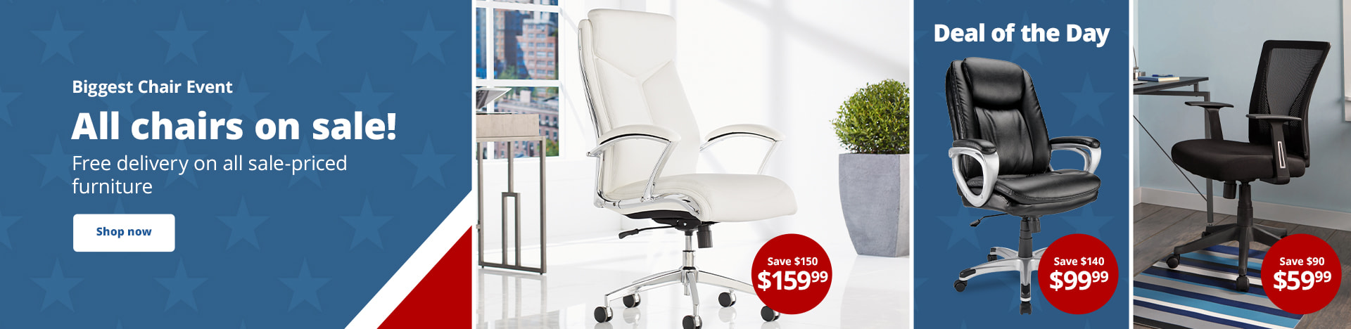 Biggest Chair Event | All chairs on sale! Free delivery on all sale-priced furniture