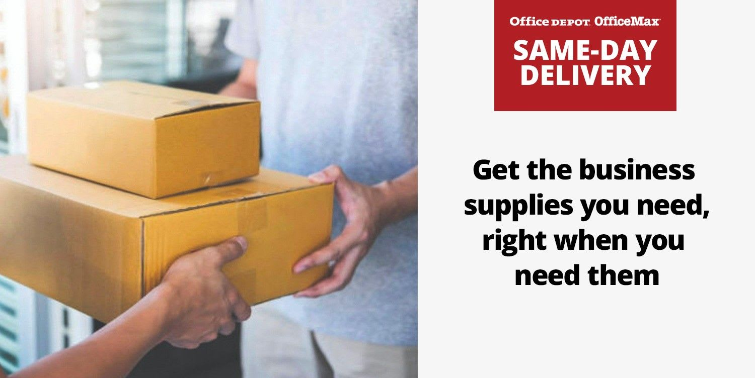 Same Day Delivery - Get the business supplies you need, right when you need them