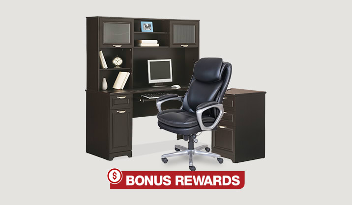 15% Back in Rewards on all desks & chairs | Free shipping on all sale-priced furniture