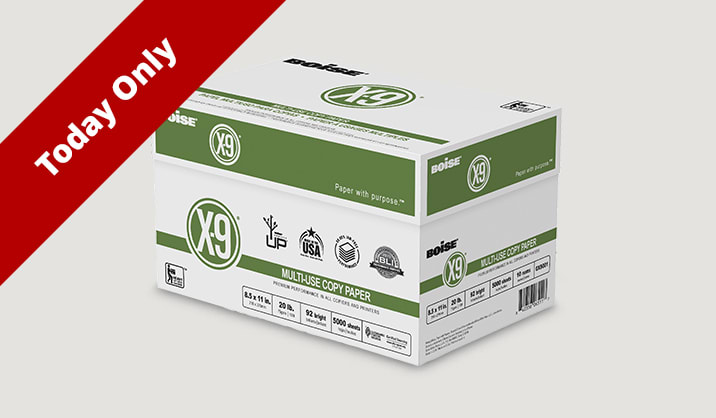 Online Only $32.99 Boise® X-9® copy paper, 10-ream case