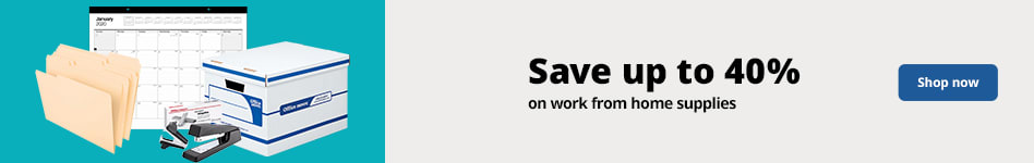Save up to 40% on work from home products