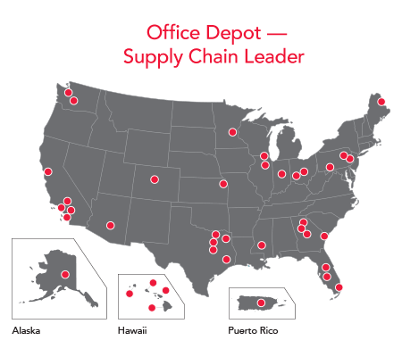 Take advantage of our world-class supply chain -map