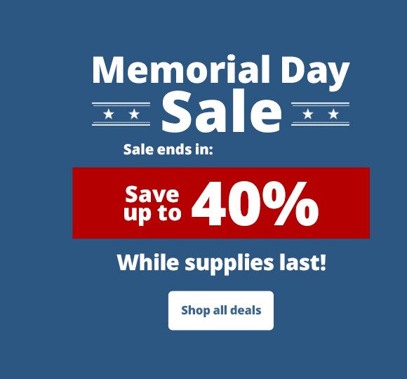 Memorial day sale - Save up to 40%