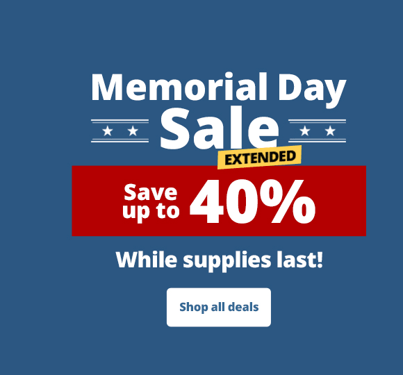 Memorial day sale extended - Save up to 40%