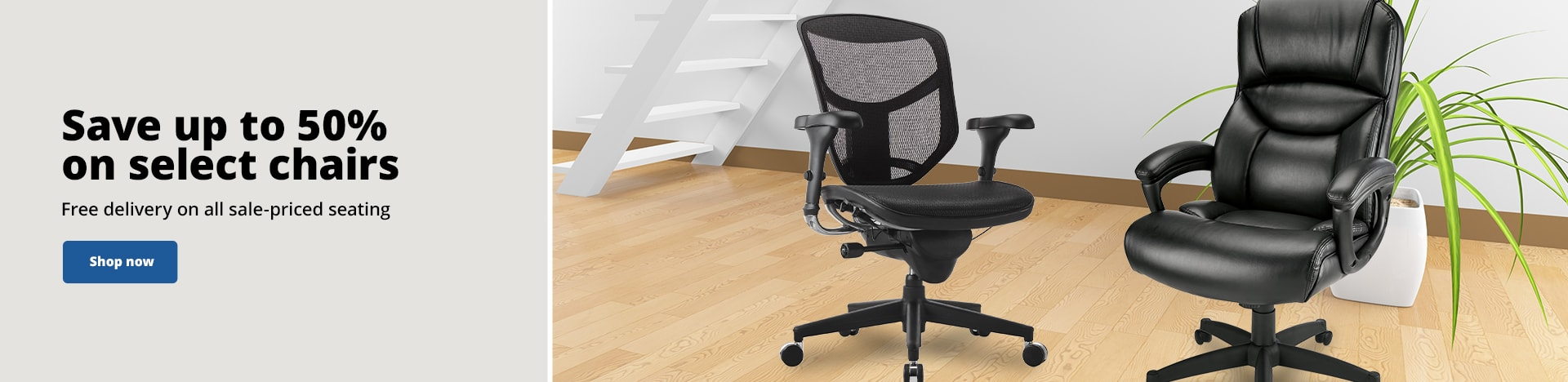 Save up to 50% on select chairs. Free delivery on all sale-priced seating
