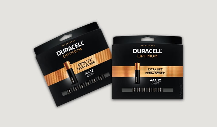 100% Back in Rewards on Duracell® Optimum AA/AAA 12-pk