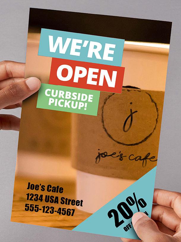 Save 30% on flyers, brochures & menus