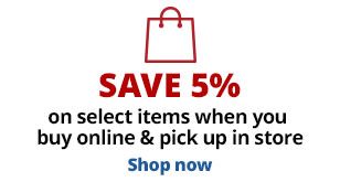 Save 5% when you buy online, pick up in store
