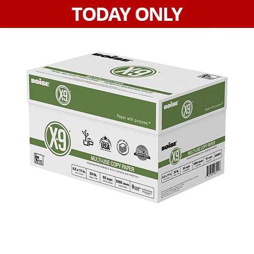 Today only - $29.99 Boise X9 10 Ream Case