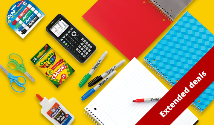 Save up to 60% on our best-selling school supplies