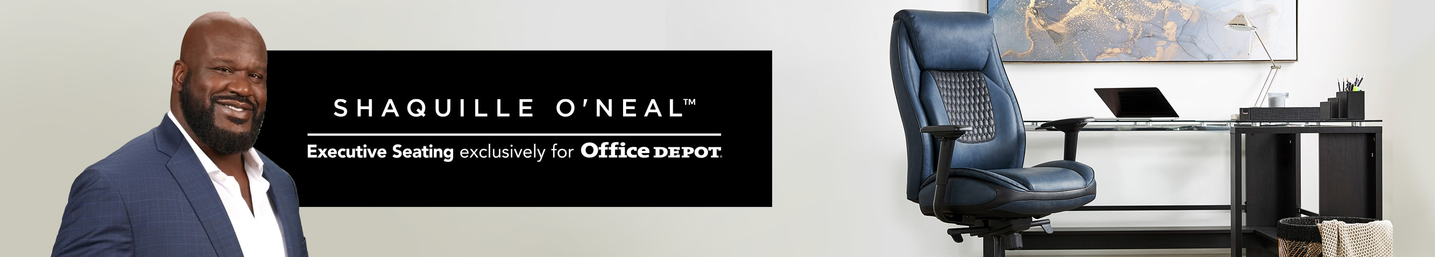Shaquille O'Neal™ Executive seating exclusively for Office Depot