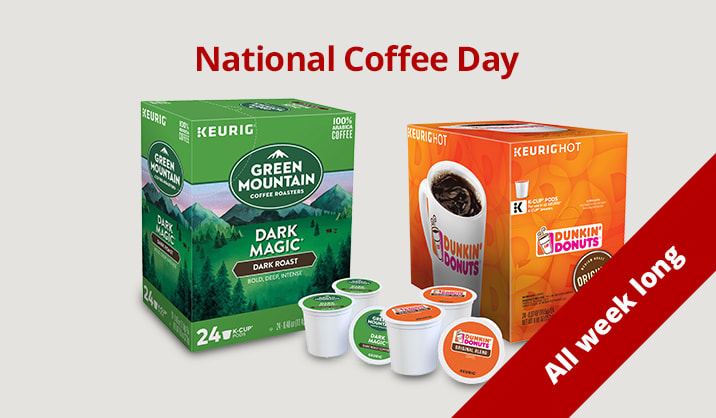Celebrate National Coffee Day 2 for $20 on 24 packs & more of K-Cup® Coffee