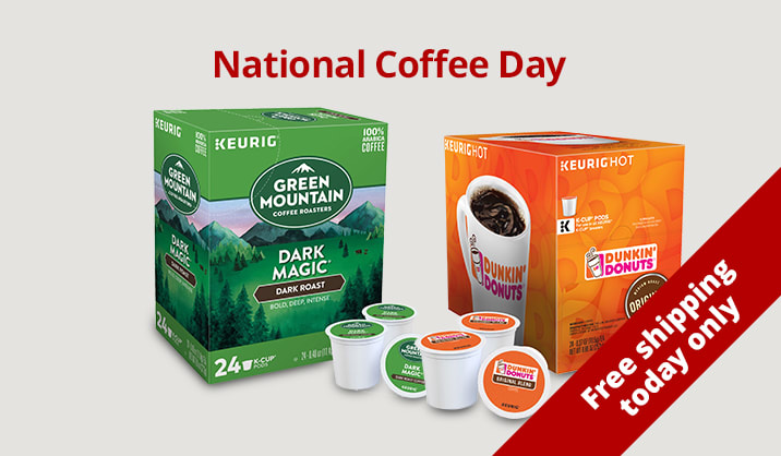 Celebrate National Coffee Day $10 on 24 packs & more of K-Cup® Coffee