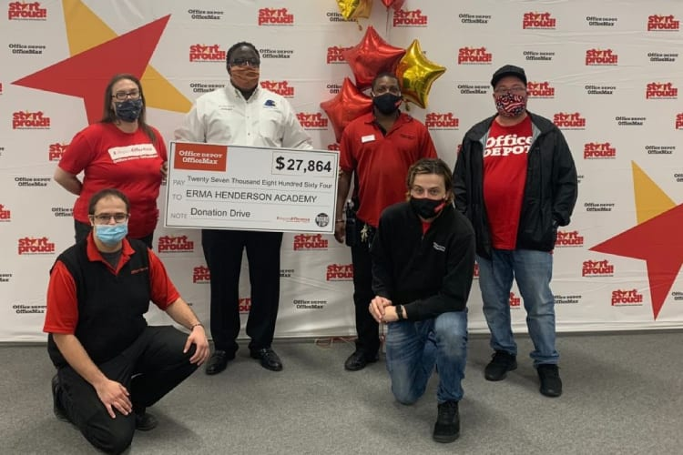 Office Depot® donates to Erma Henderson Academy