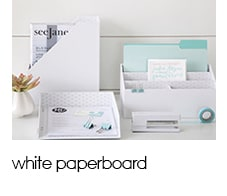 See Jane Work: - White Paperboard Collection