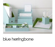 See Jane Work: Blue Herringbone Collection