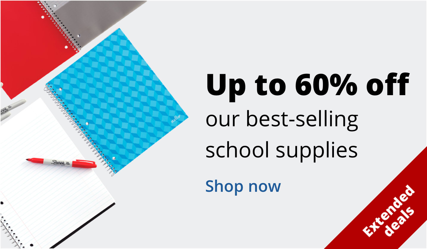 Up to 60% off our best-selling school supplies