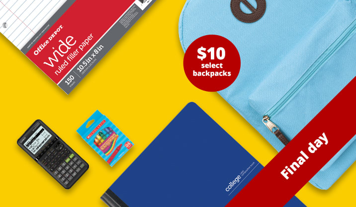 Final Day 4-Day Flash Sale. Save up to 70% on school supplies