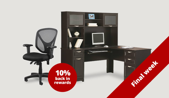 Save up to 40% plus 10% back in rewards on select furniture & chairs