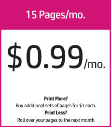 15 pages/mo