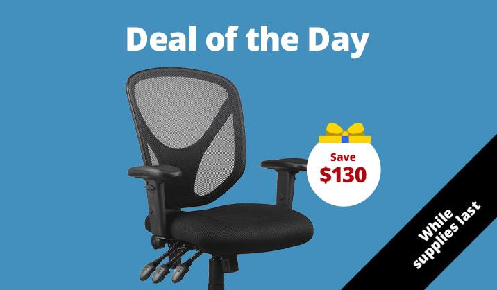 $99 Realspace® Multifunction Ergonomic Super Task Chair, Black