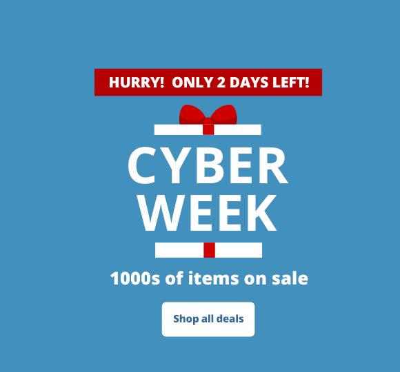 Cyber Week   1000s of items on sale!