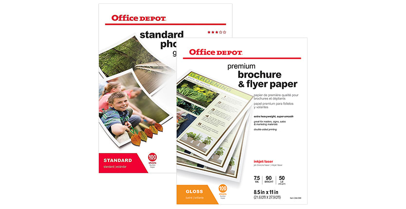 Buy 1 Get 1 50% off Office Depot presentation & photo paper