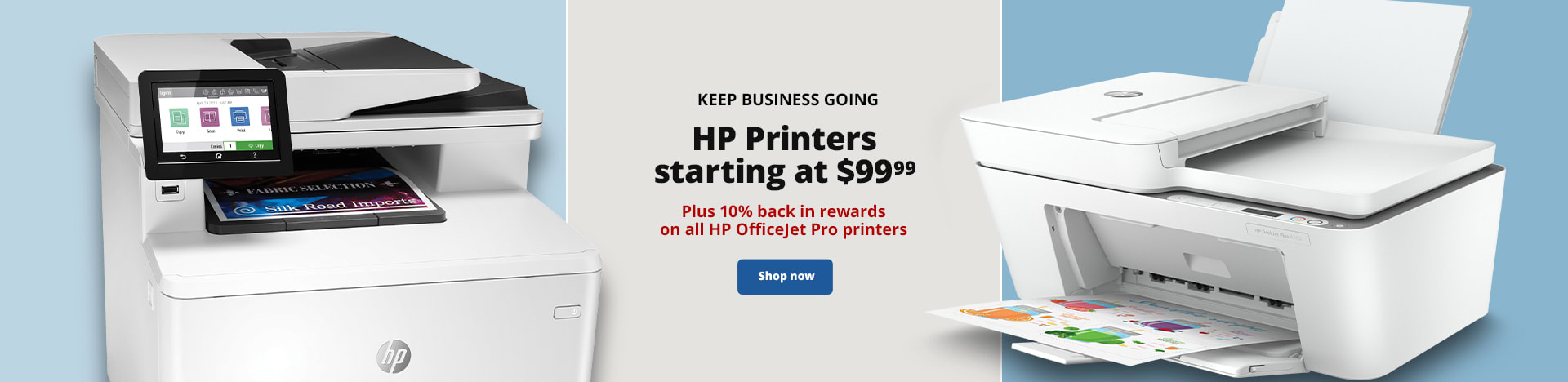 Keep Business Going. HP Printers starting at $99.99. Plus 10% back in rewards on select HP OfficeJet Pro printers