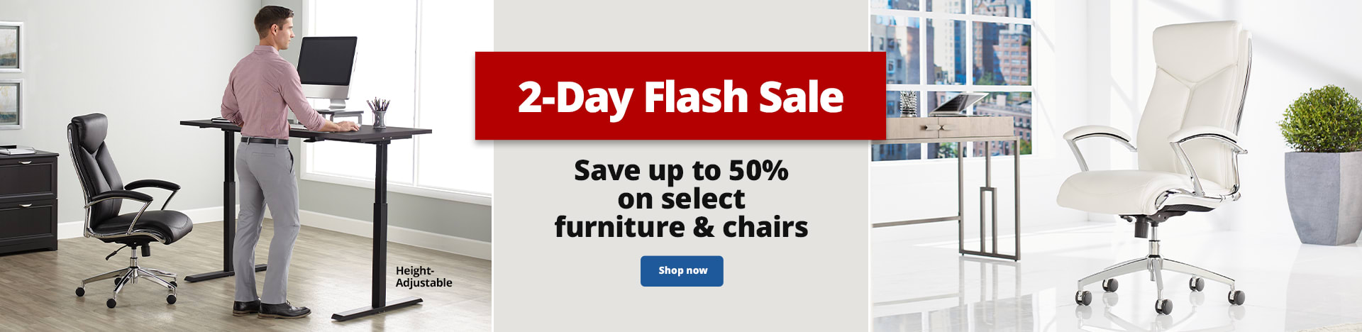 2-Day Flash Sale. Save up to 50% on select furniture & chairs