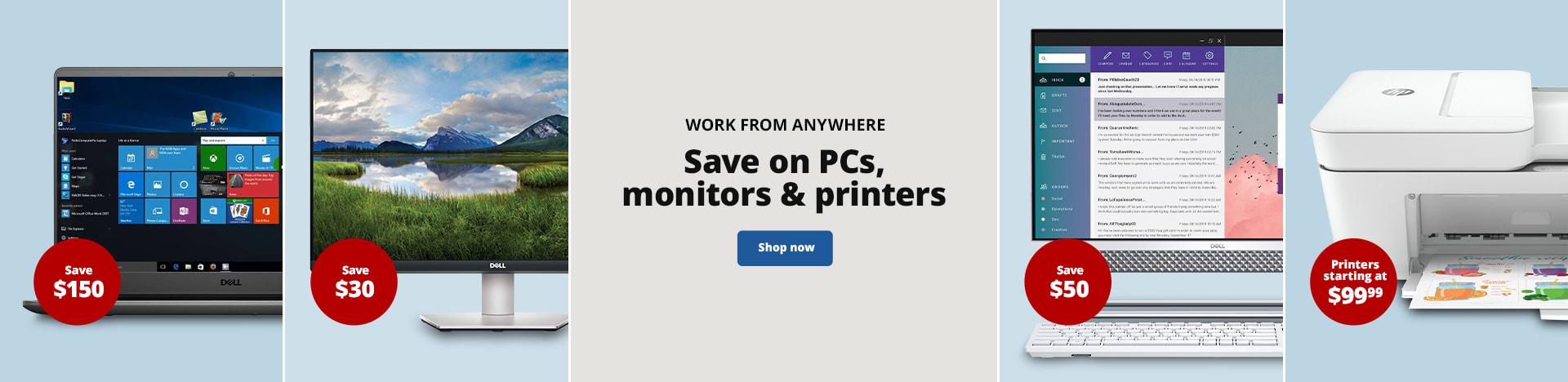 Organize & Save Time. Save on PCs, monitors & printers