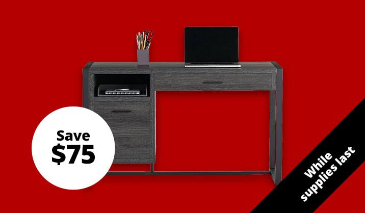 """$119.99 Realspace® DeJori 51""""W Writing Desk"""